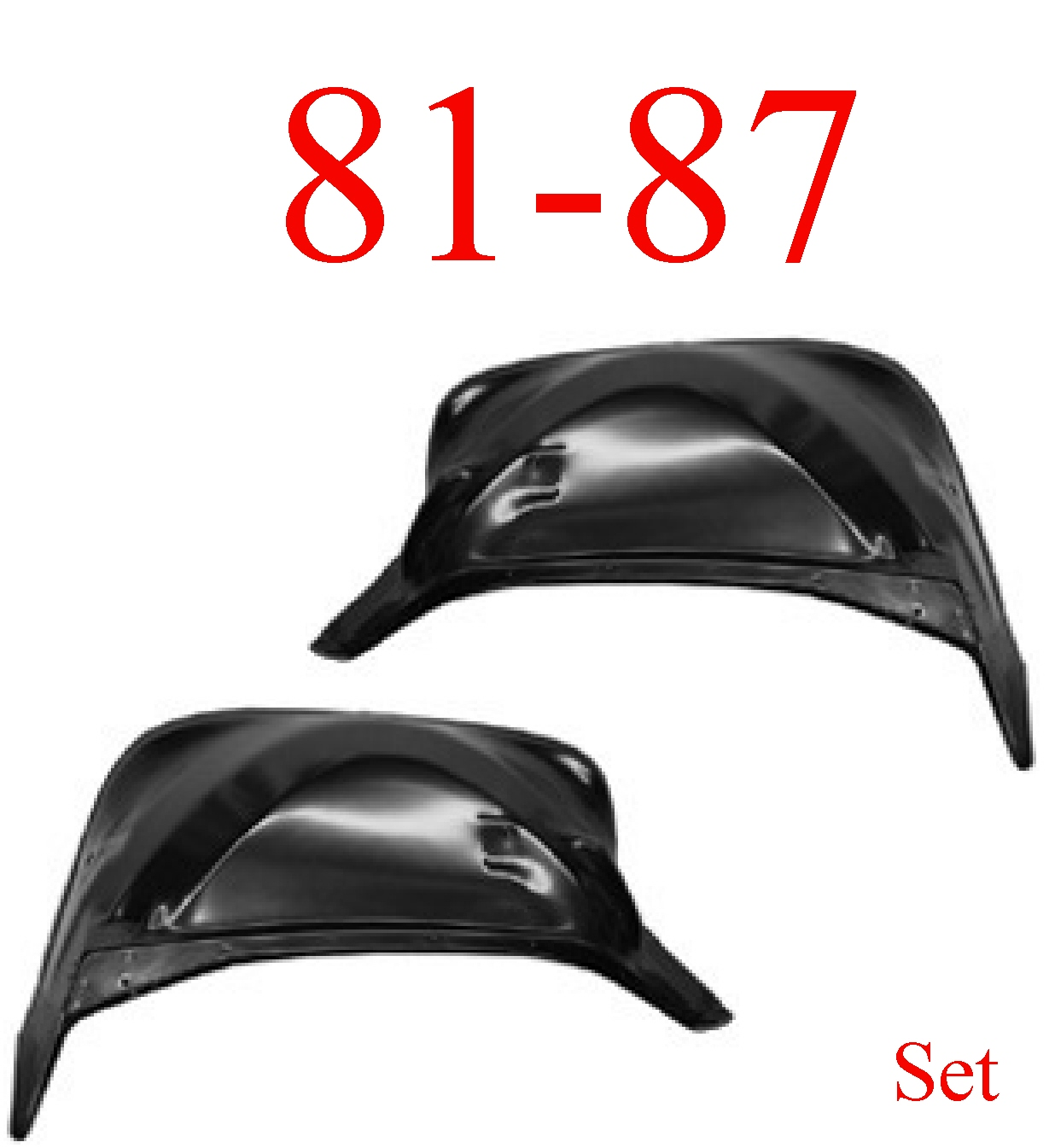 81-87 Chevy Inner Front Fender Set