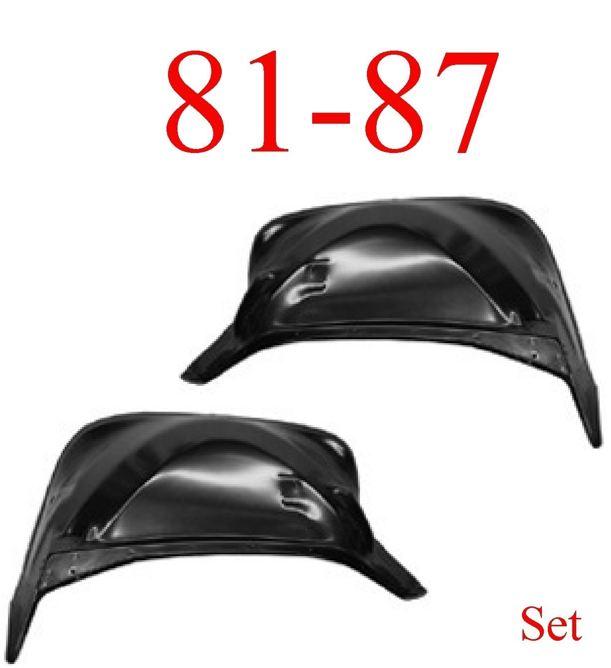 81-87-91 Chevy & GMC Inner Fender 2Pc Set