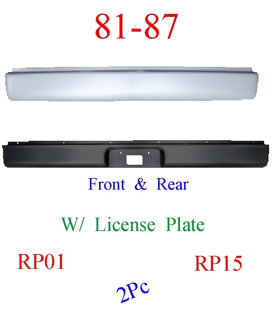 RP01 & RP15 81-87 Chevy 2Pc Front & Rear Roll Pan Smoothie