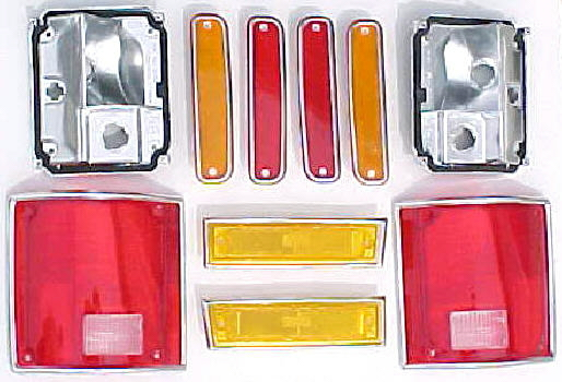 81 87 91 Chevy GMC DUALLY TRUCK 10 PC Tail Light Kit