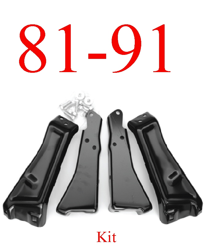 81-87 Chevy Rear Bumper Bracket Kit & Hardware