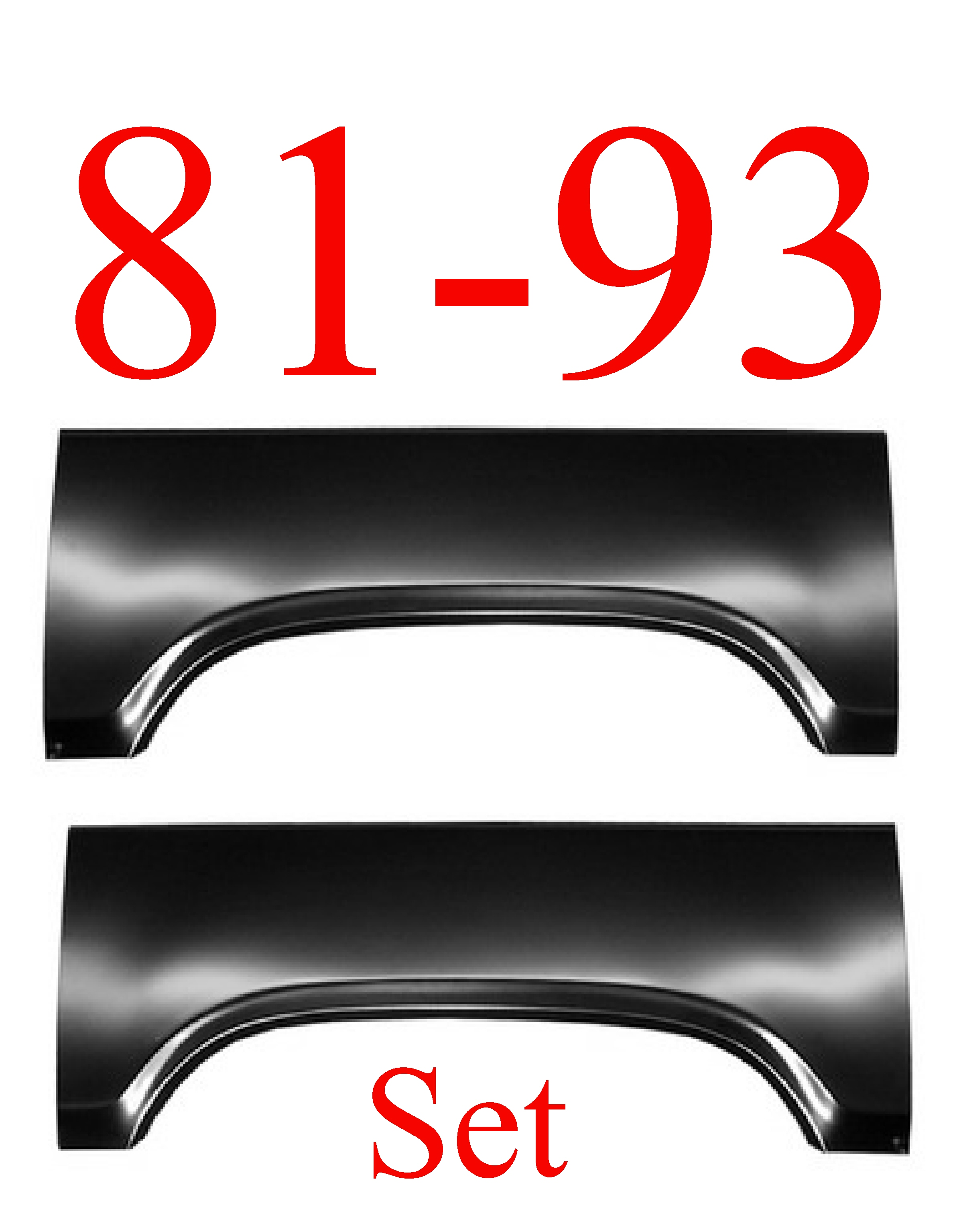 81-93 Dodge Ram Upper Arch Panel SET