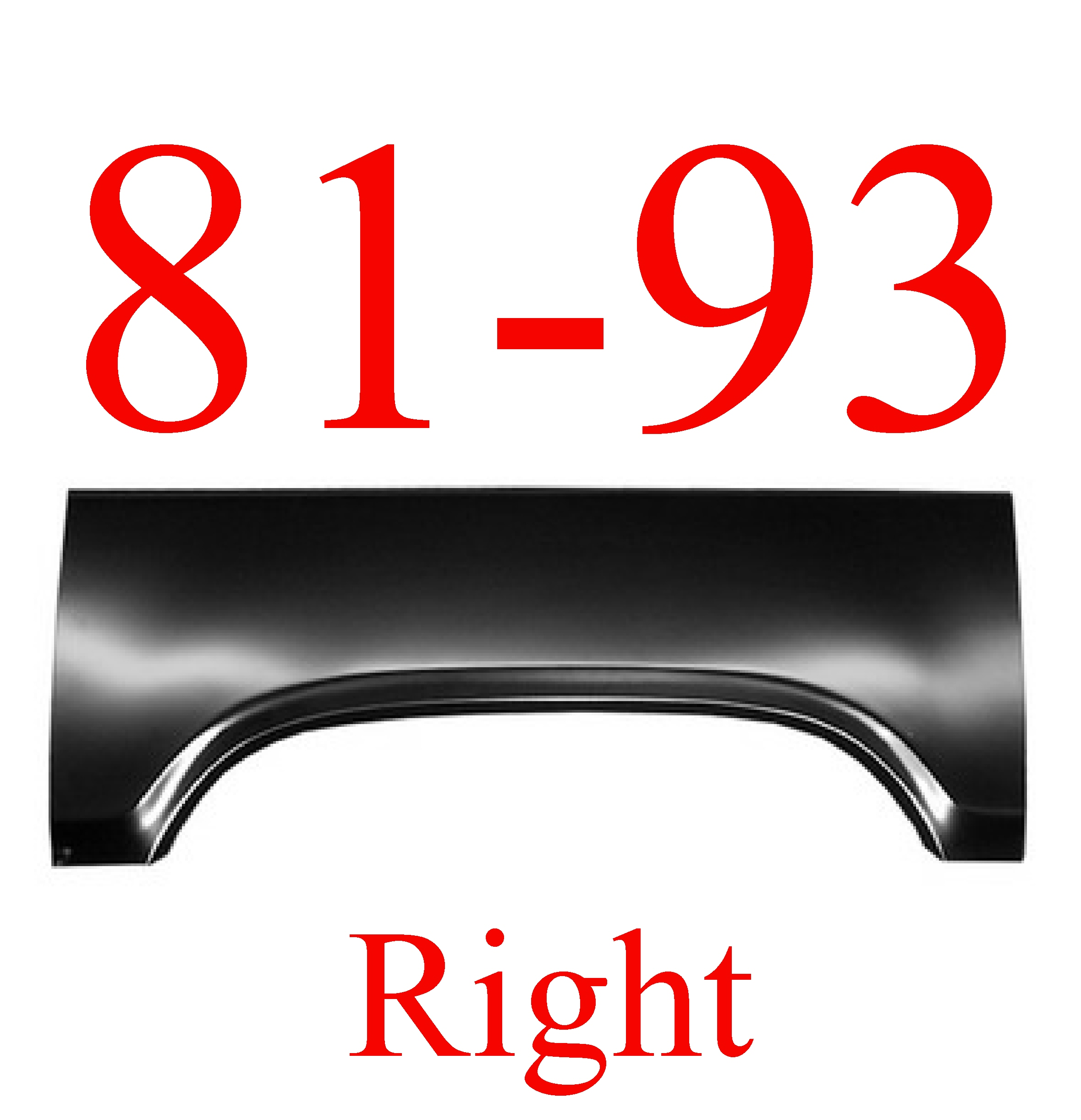 81-93 Dodge Ram RIGHT Upper Arch Panel