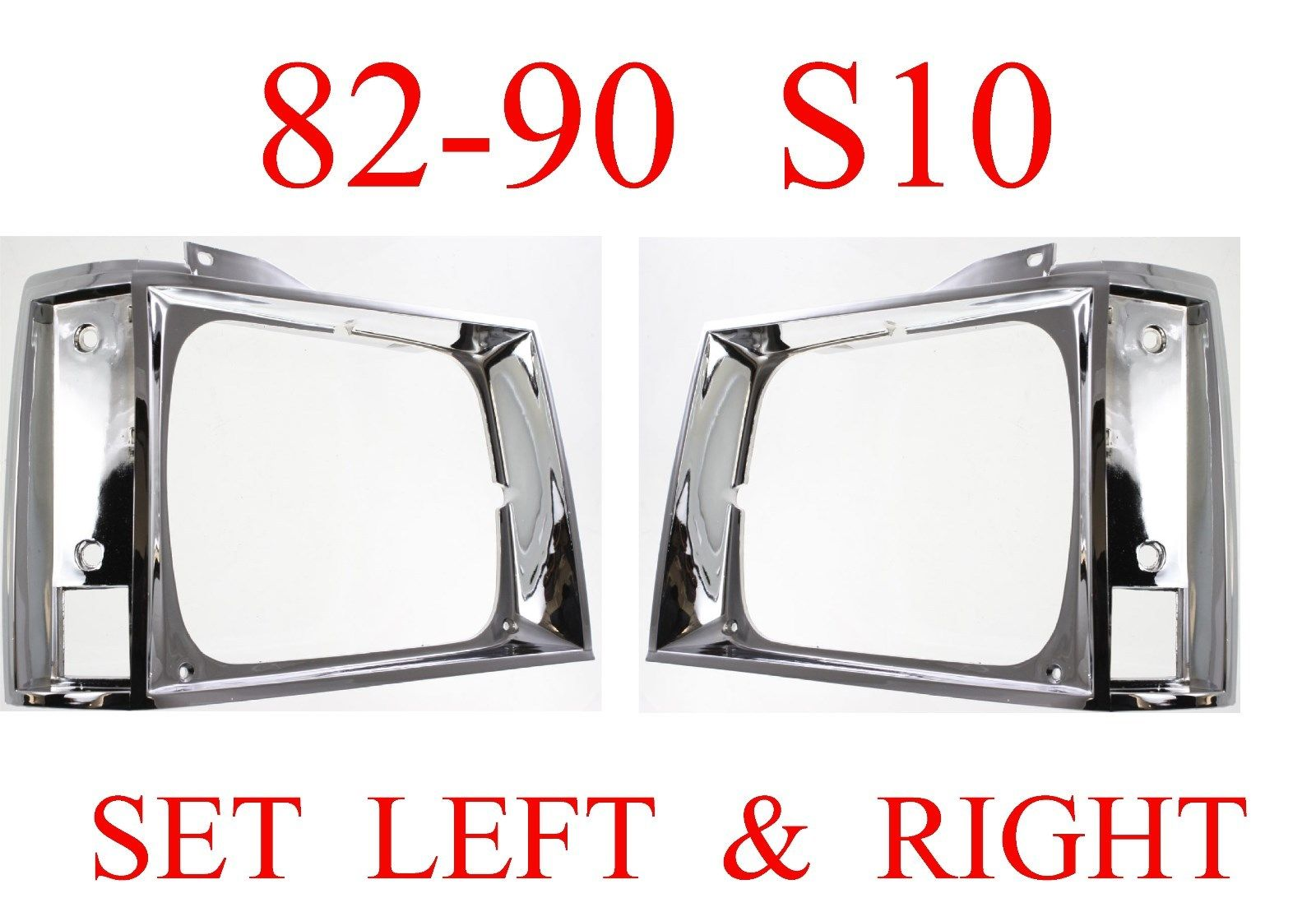 82-93 S10 Chrome Head Light Door Set