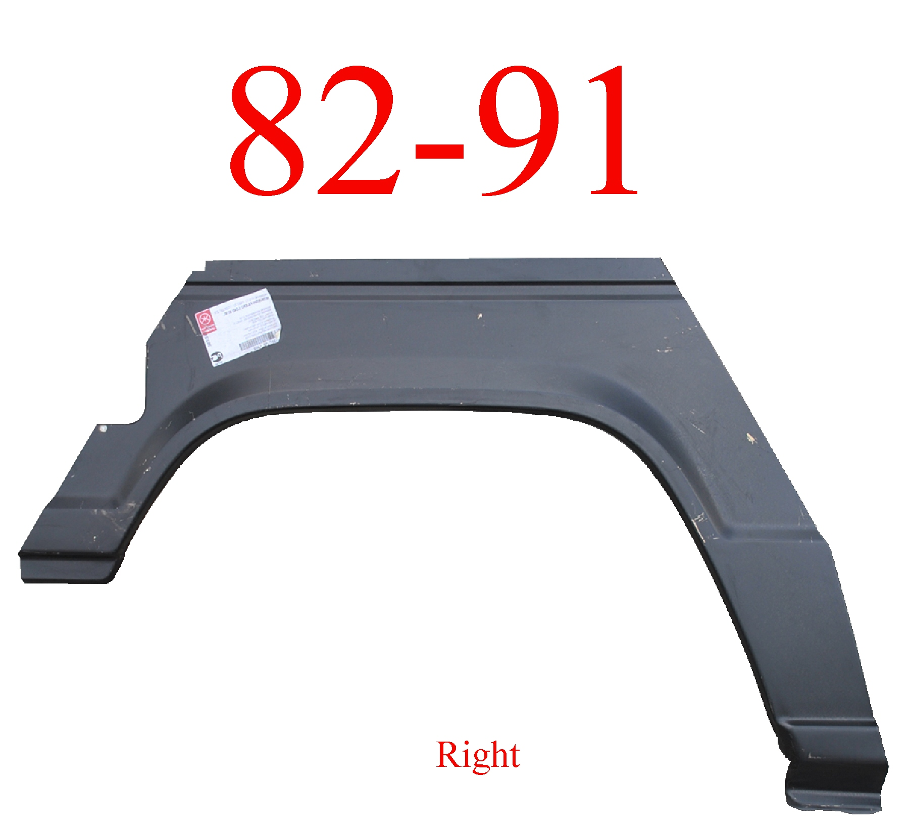 82-91 Mitsubishi Montero 2Dr Right Rear Upper Arch & Dog Leg