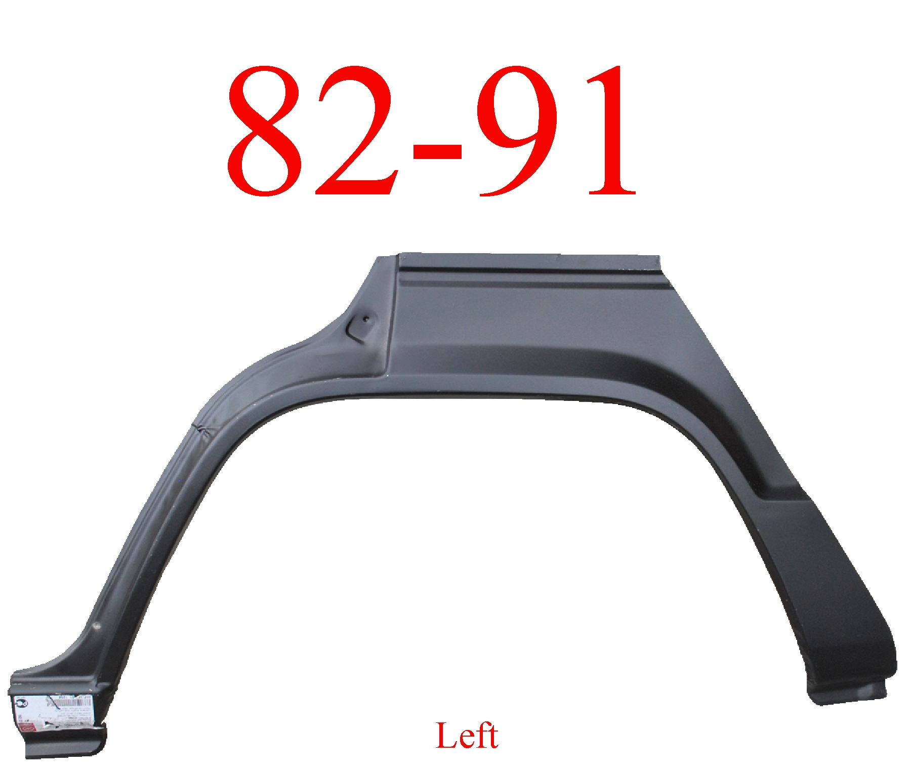 82-91 Mitsubishi Montero 4Dr Left Rear Upper Arch & Dog Leg