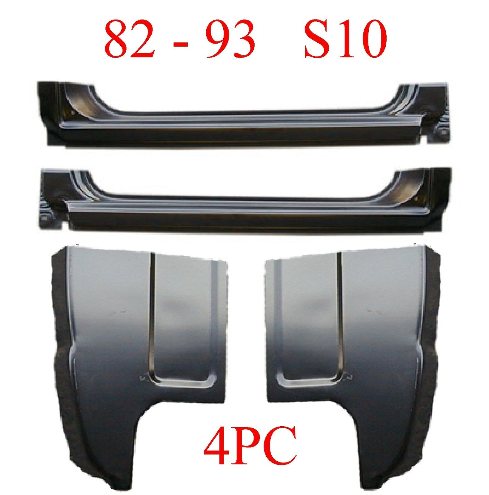 82-93 Chevy S10 4Pc Extended Rocker & Cab Corner Kit