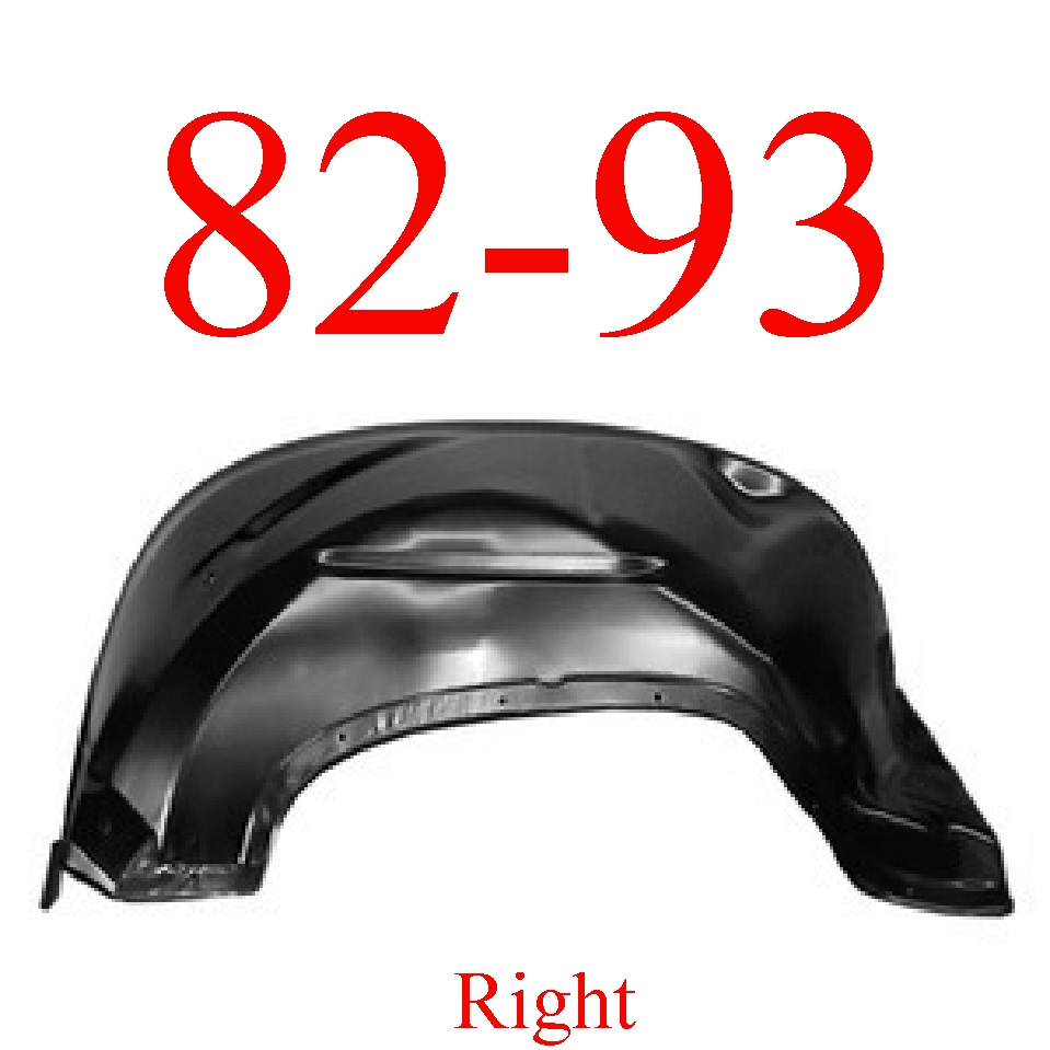 82-93 Chevy S10 Right Inner Fender Panel