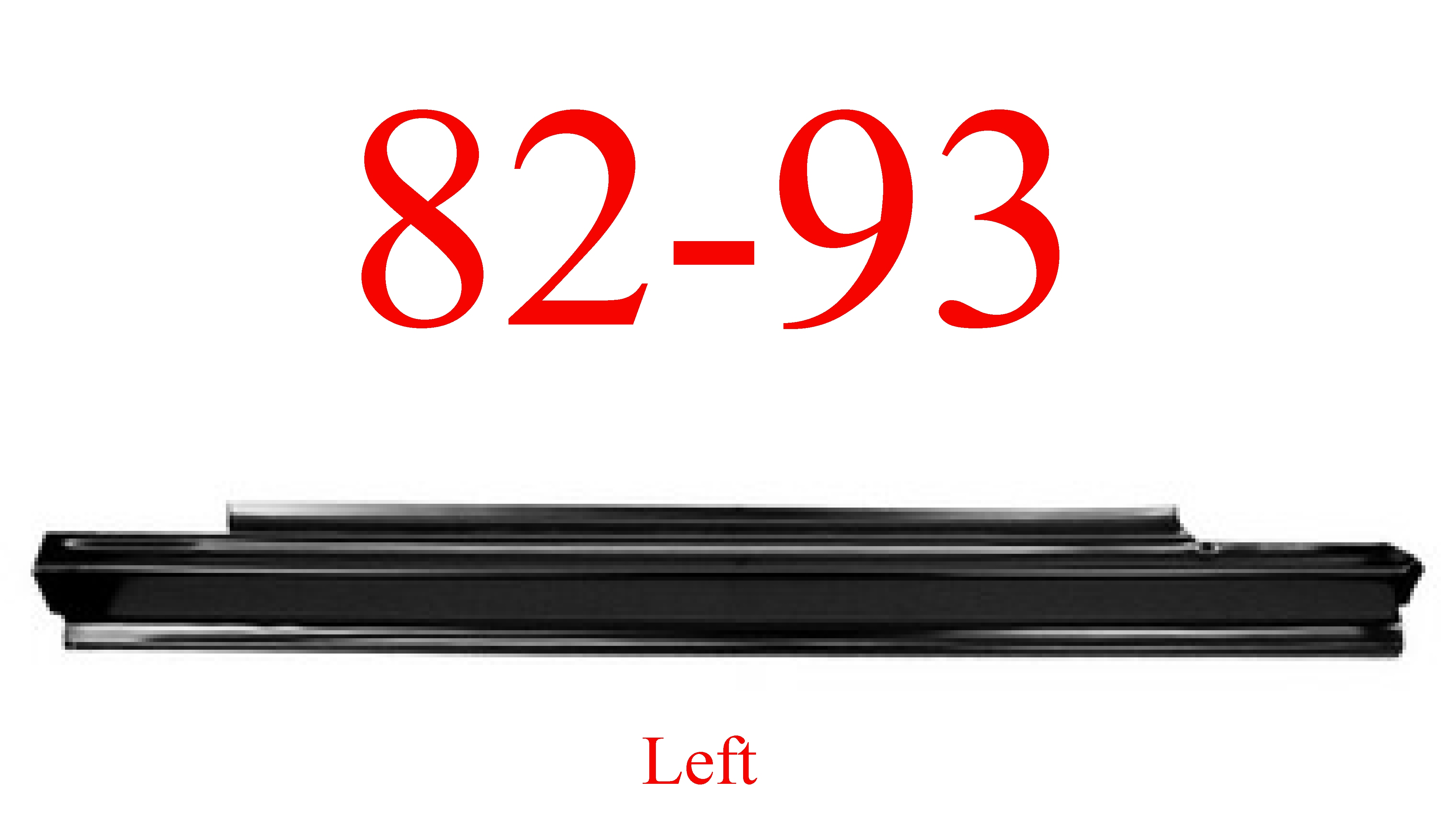 82-93 Chevy S10 Left Slip-On Rocker Panel
