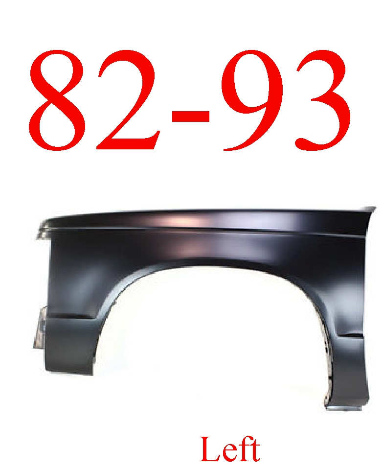 82-93 Chevy S10 Left Fender Panel