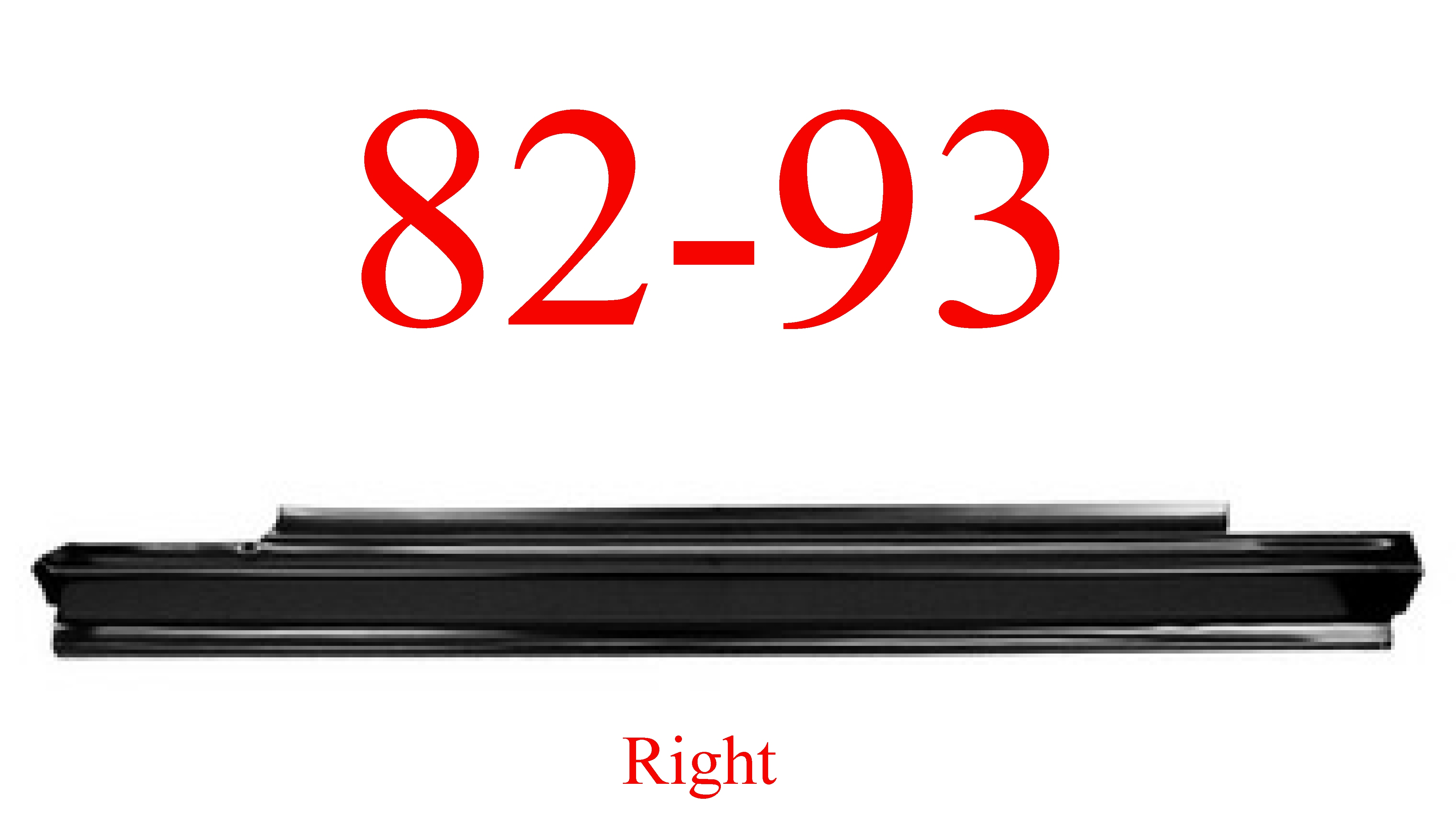 82-93 Chevy S10 Right Slip-On Rocker Panel