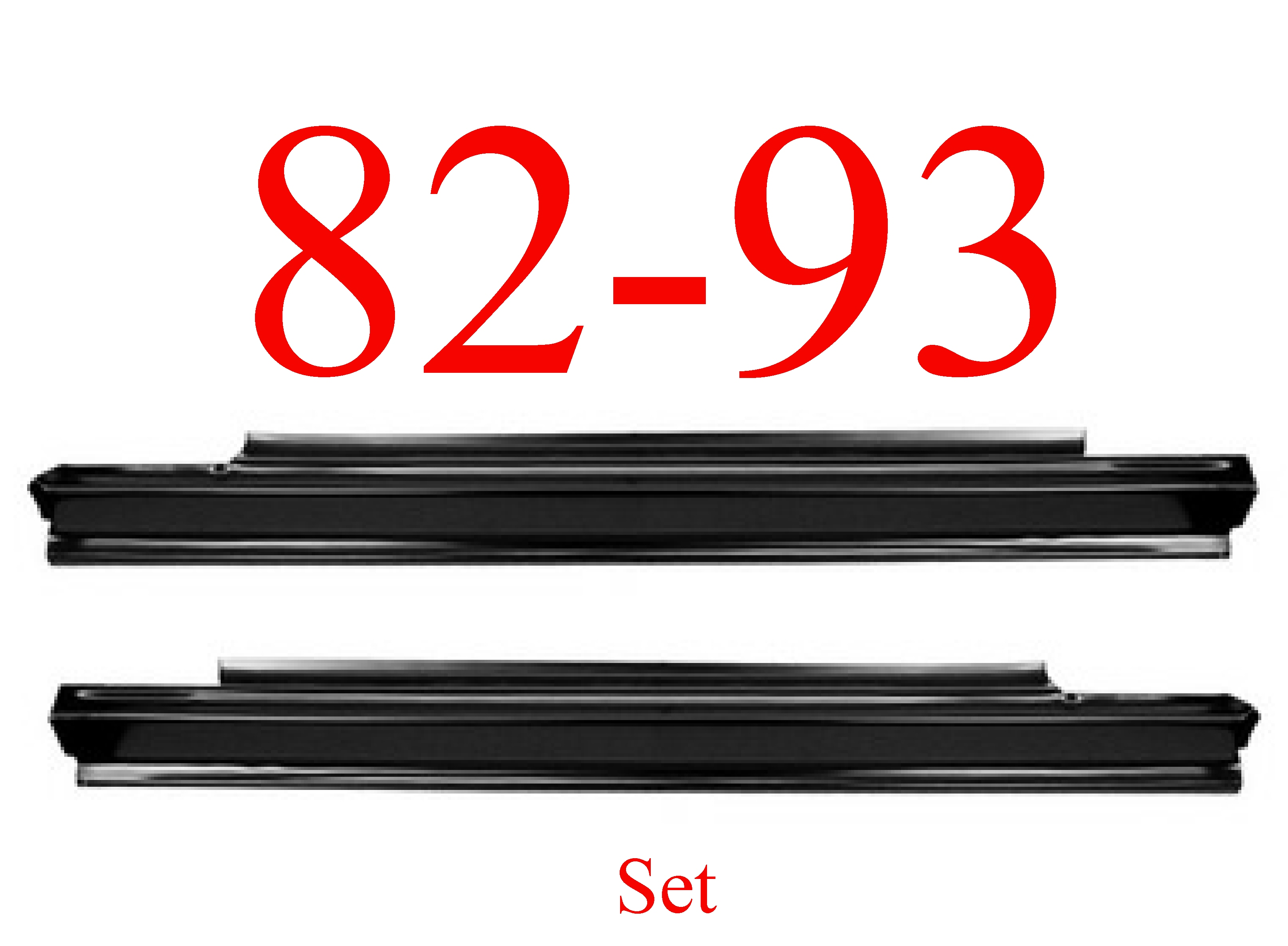 82-93 Chevy S10 Slip-On Rocker Panel SET
