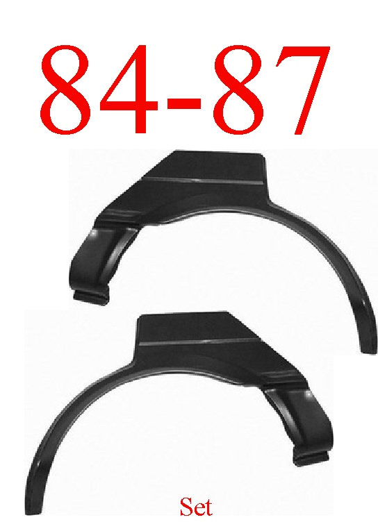 84-87 Toyota Corolla Rear Upper Arch Set