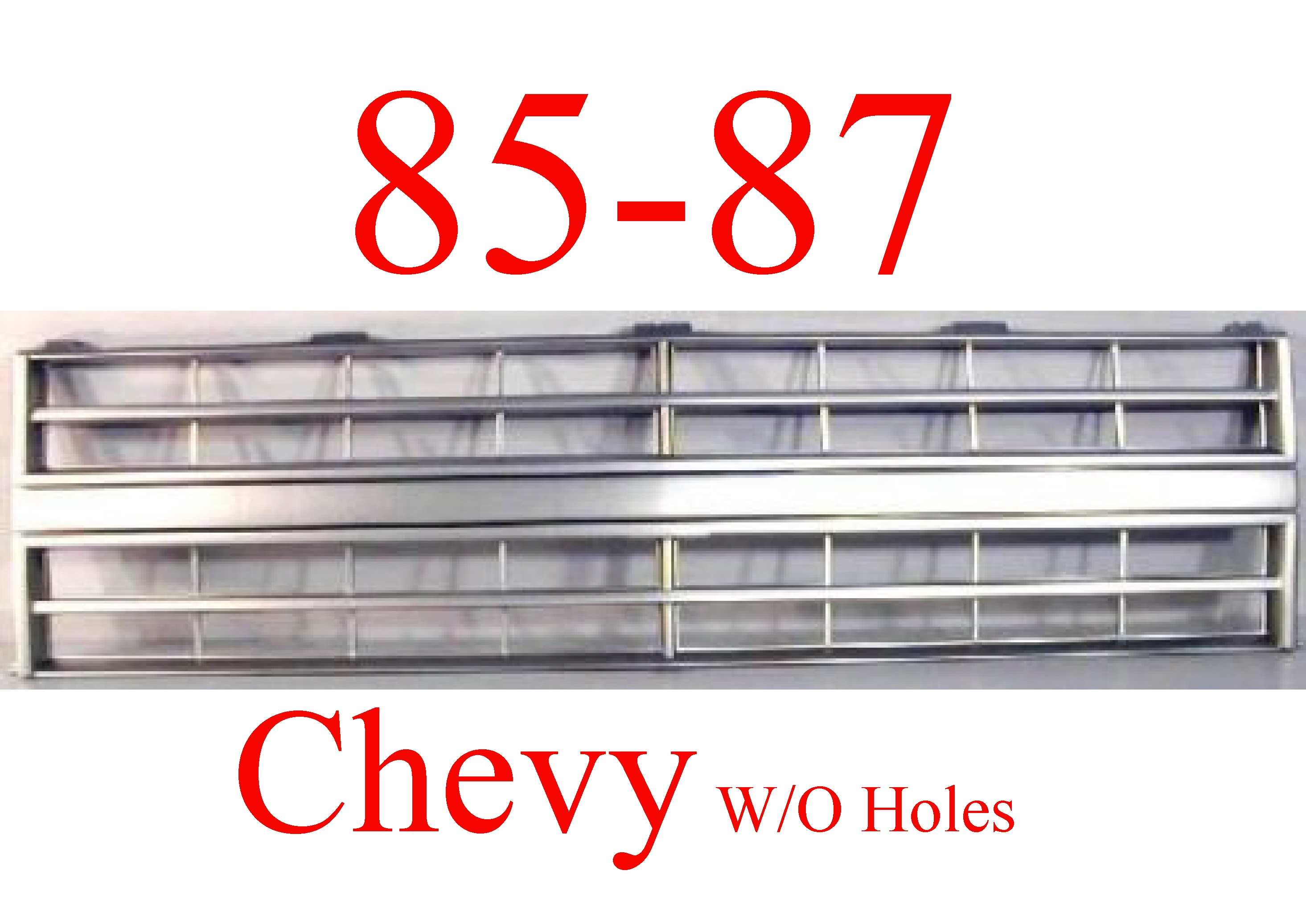 85 87 Chevy Grill 2 H L Set Up Mrtaillight Com Online Store