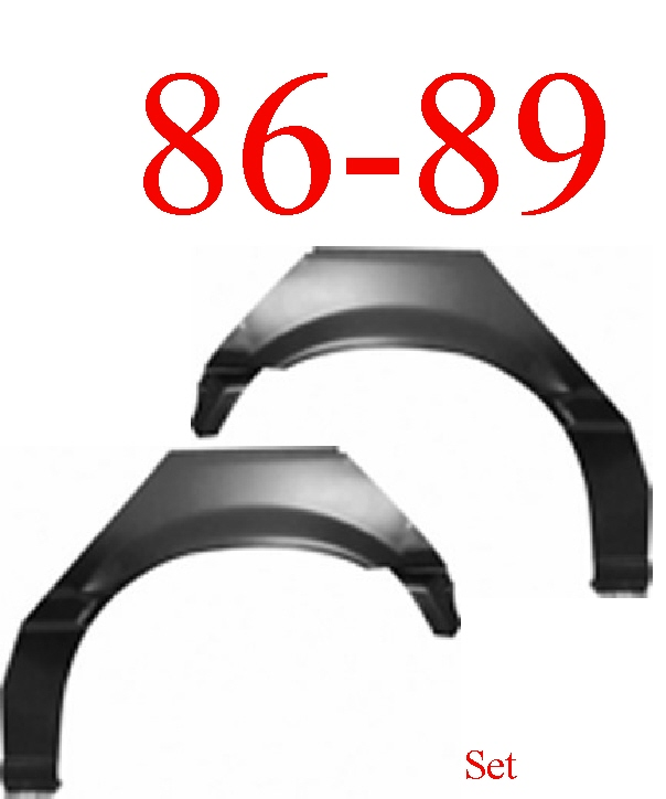 86-89 Honda Accord 2 Door Rear Upper Wheel Arch Set