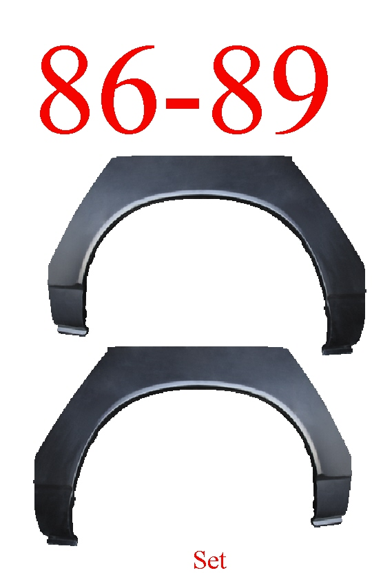 84-89 Toyota Celica Rear Upper Arch Set