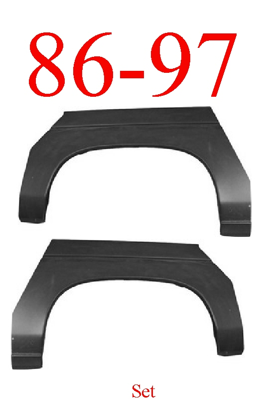 86-97 Nissan Pickup Rear Upper Wheel Arch Set
