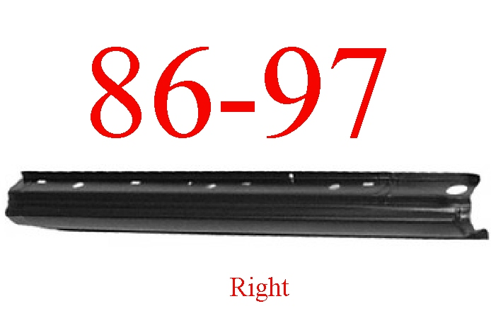 86-97 Nissan Pickup Right Extended Rocker Panel