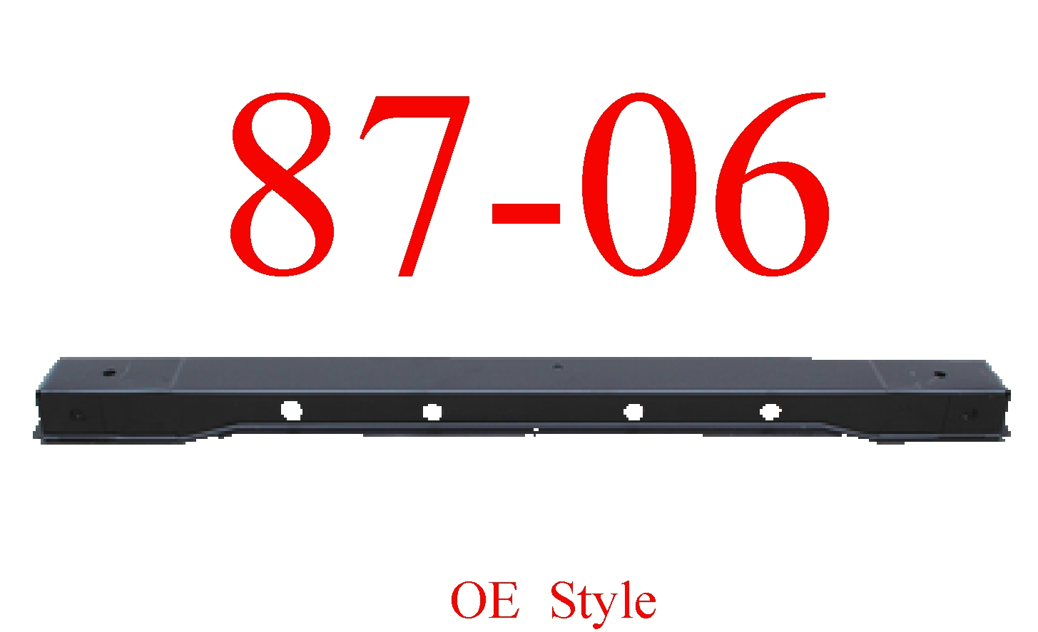 87-06 Jeep Wrangler YJ & TJ Rear Cross Sill Panel