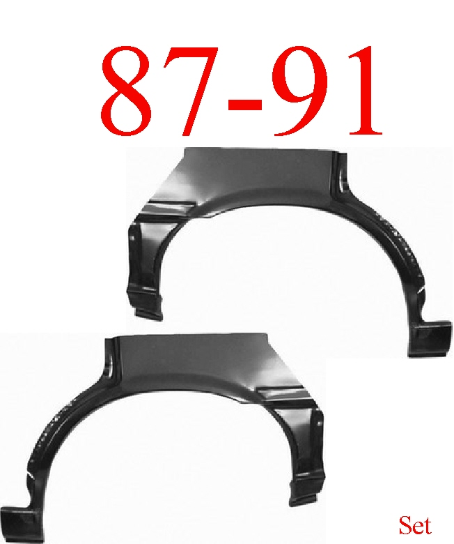 87-91 Toyota Camry Rear Upper Wheel Arch Set