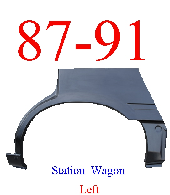 87-91 Toyota Camry Station Wagon Left Wheel Arch Full Length