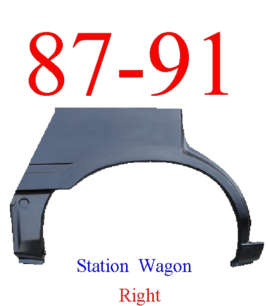 87-91 Toyota Camry Station Wagon Right Wheel Arch Full Length