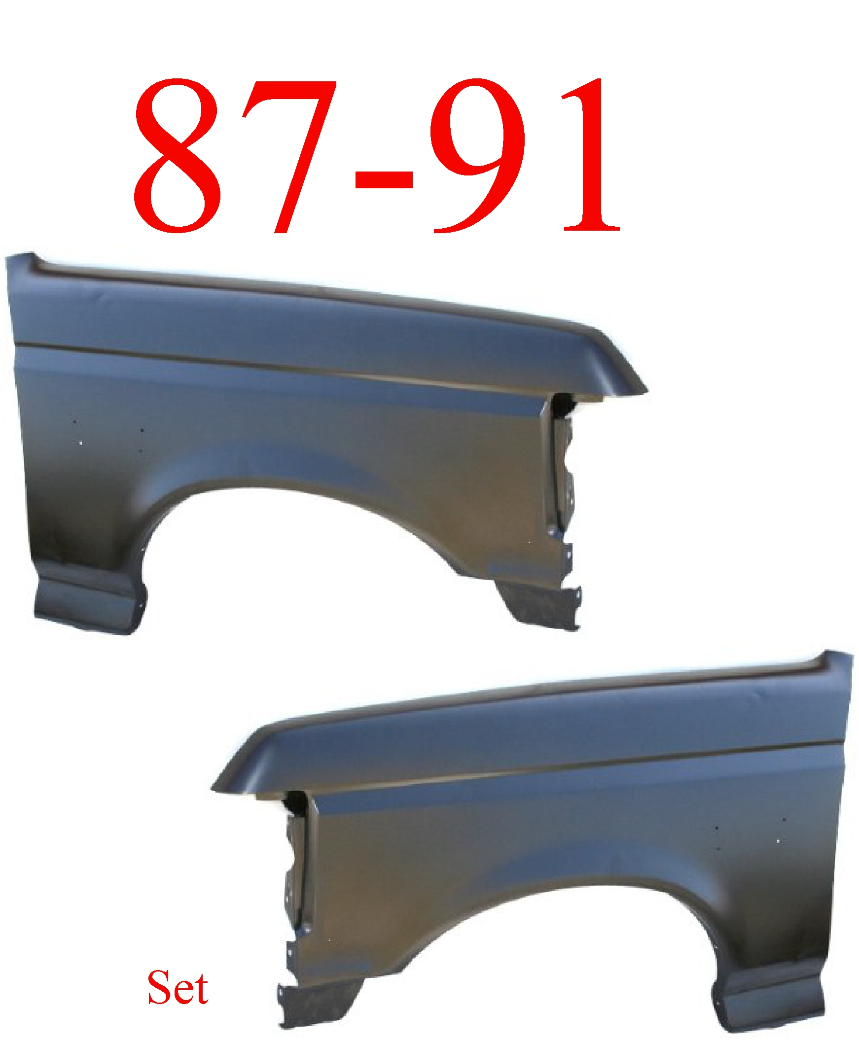 87-91 Ford Truck Front Fender Set