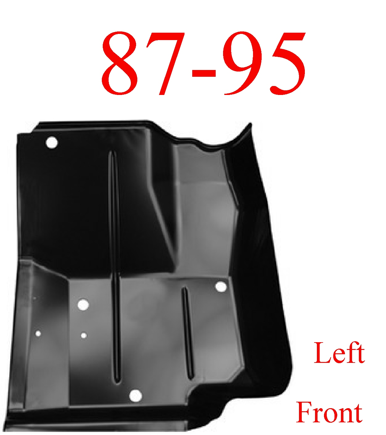 87-95 Wrangler YJ Left Front Floor Pan