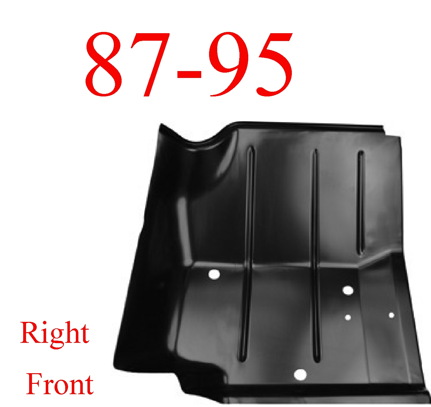 87-95 Wrangler YJ Right Front Floor Pan