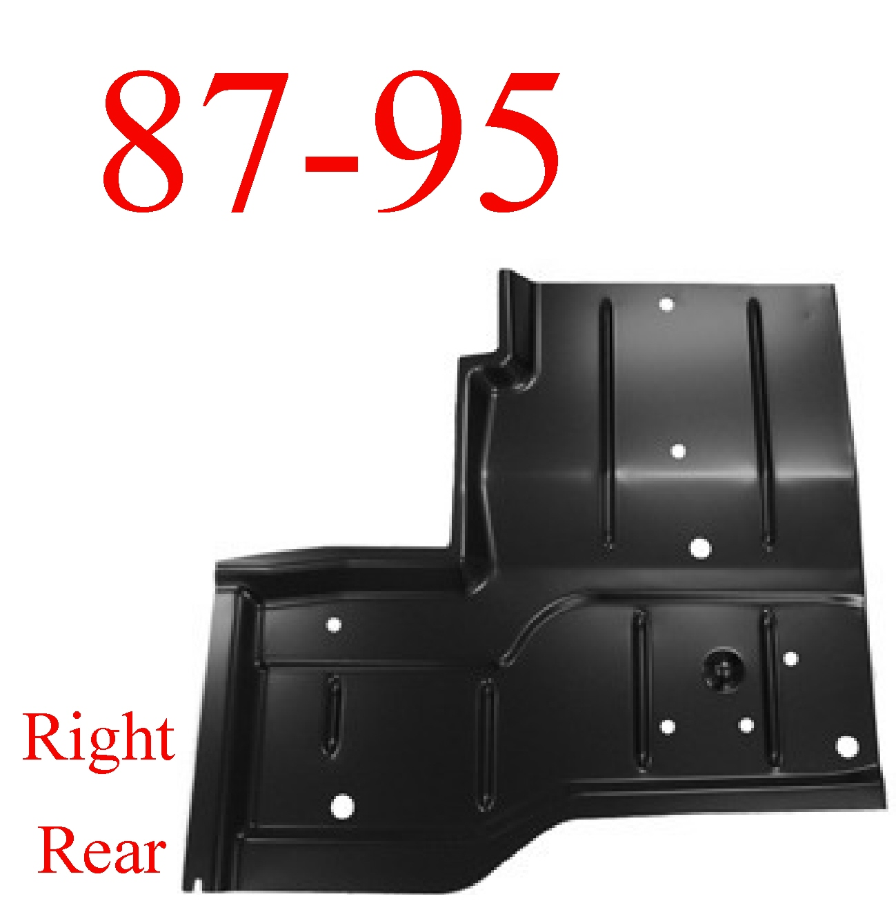 87 95 Wrangler Yj Right Rear Floor Pan Mrtaillight Com