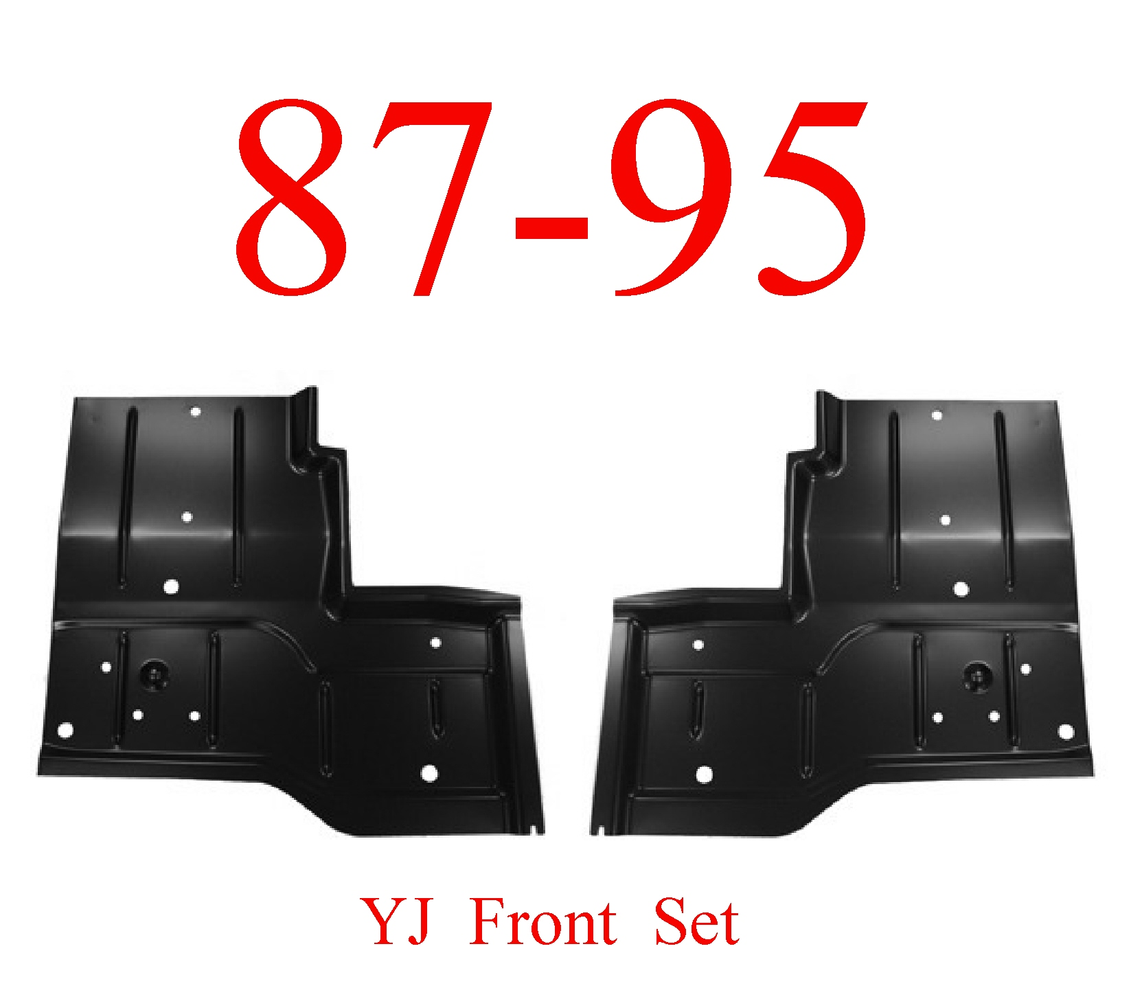 87-95 Wrangler YJ Rear Floor Pan Set