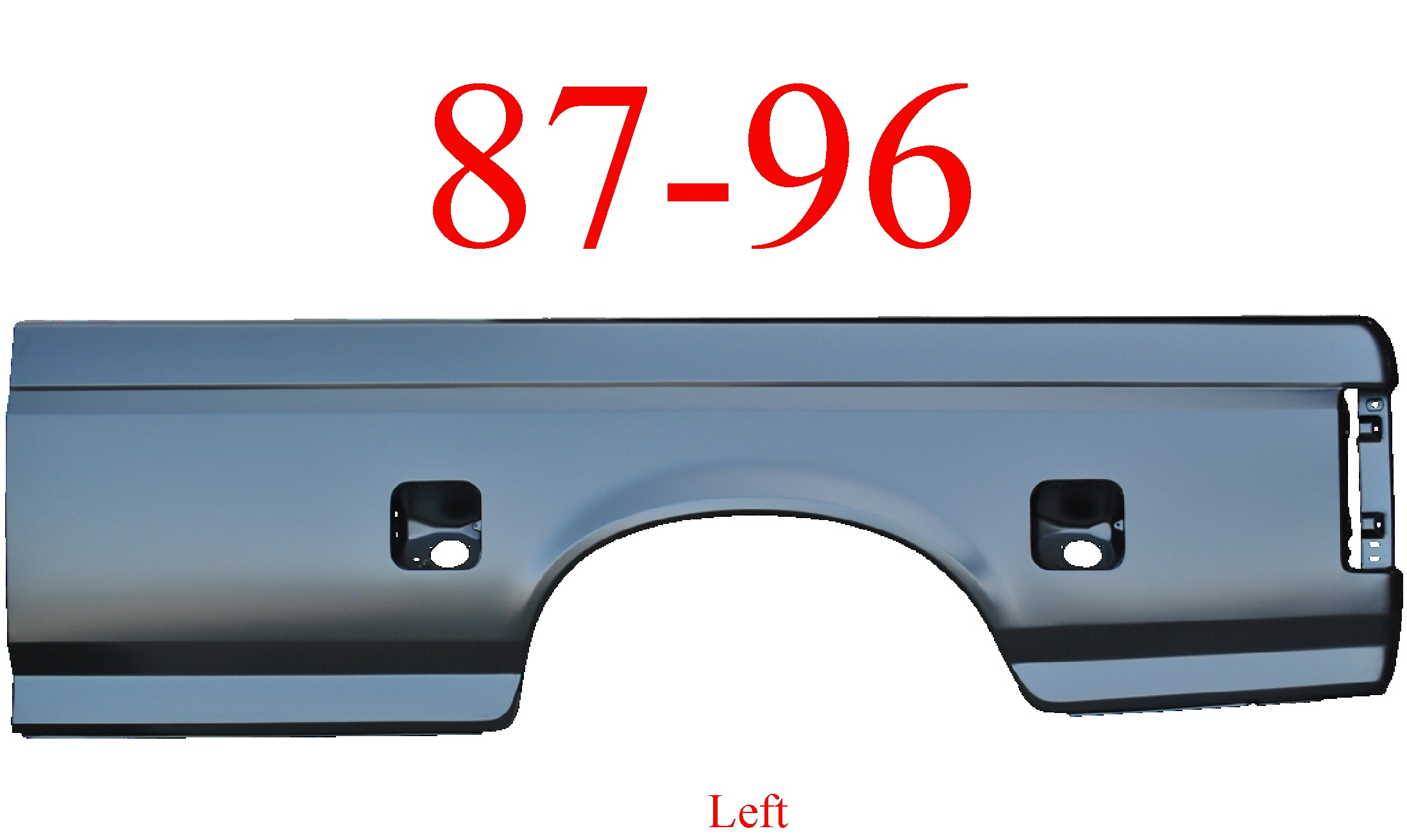 87-96 Ford Left 8' Bed Side Dual Fuel Holes