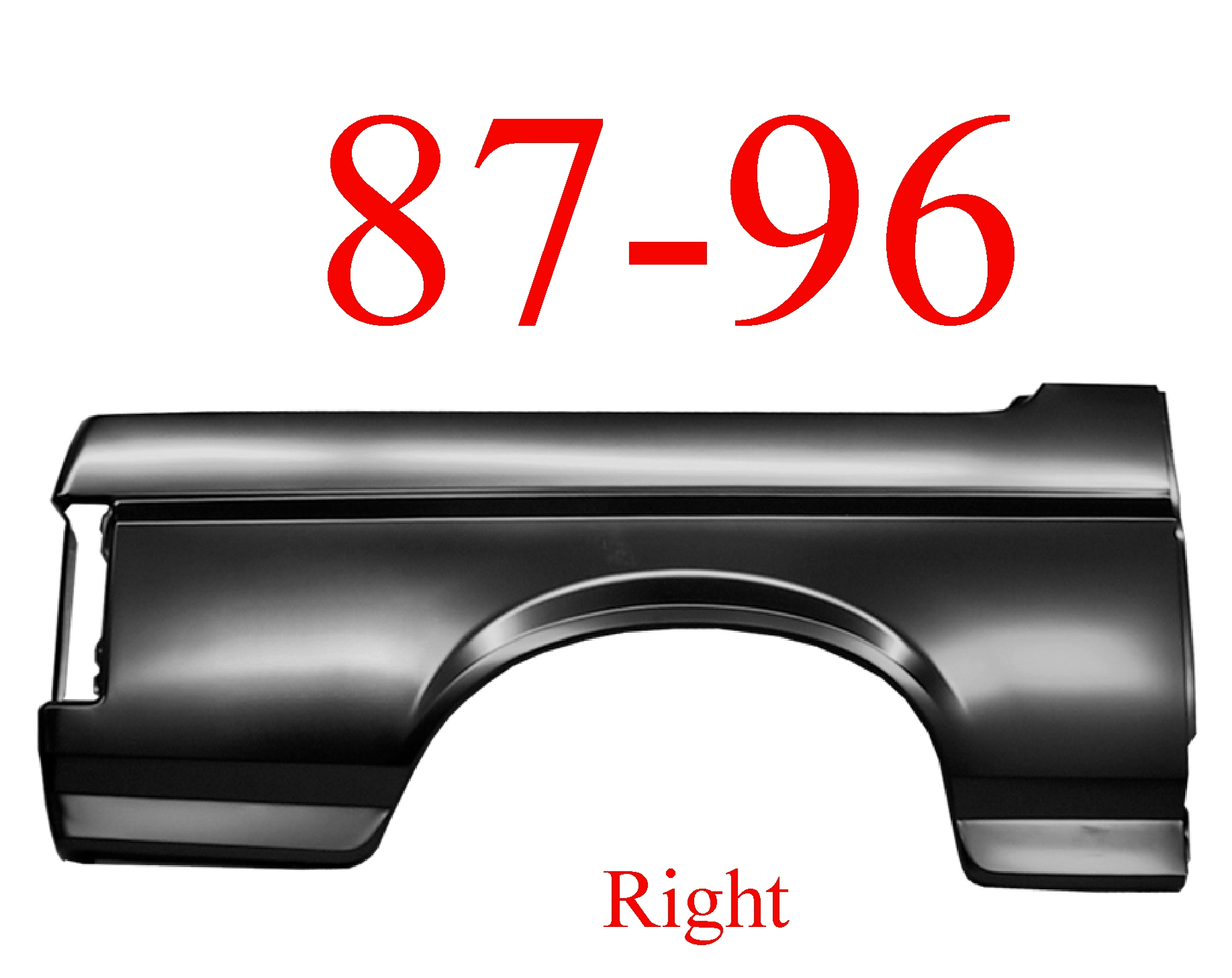 87-96 Ford Bronco Right Outer Quarter Panel