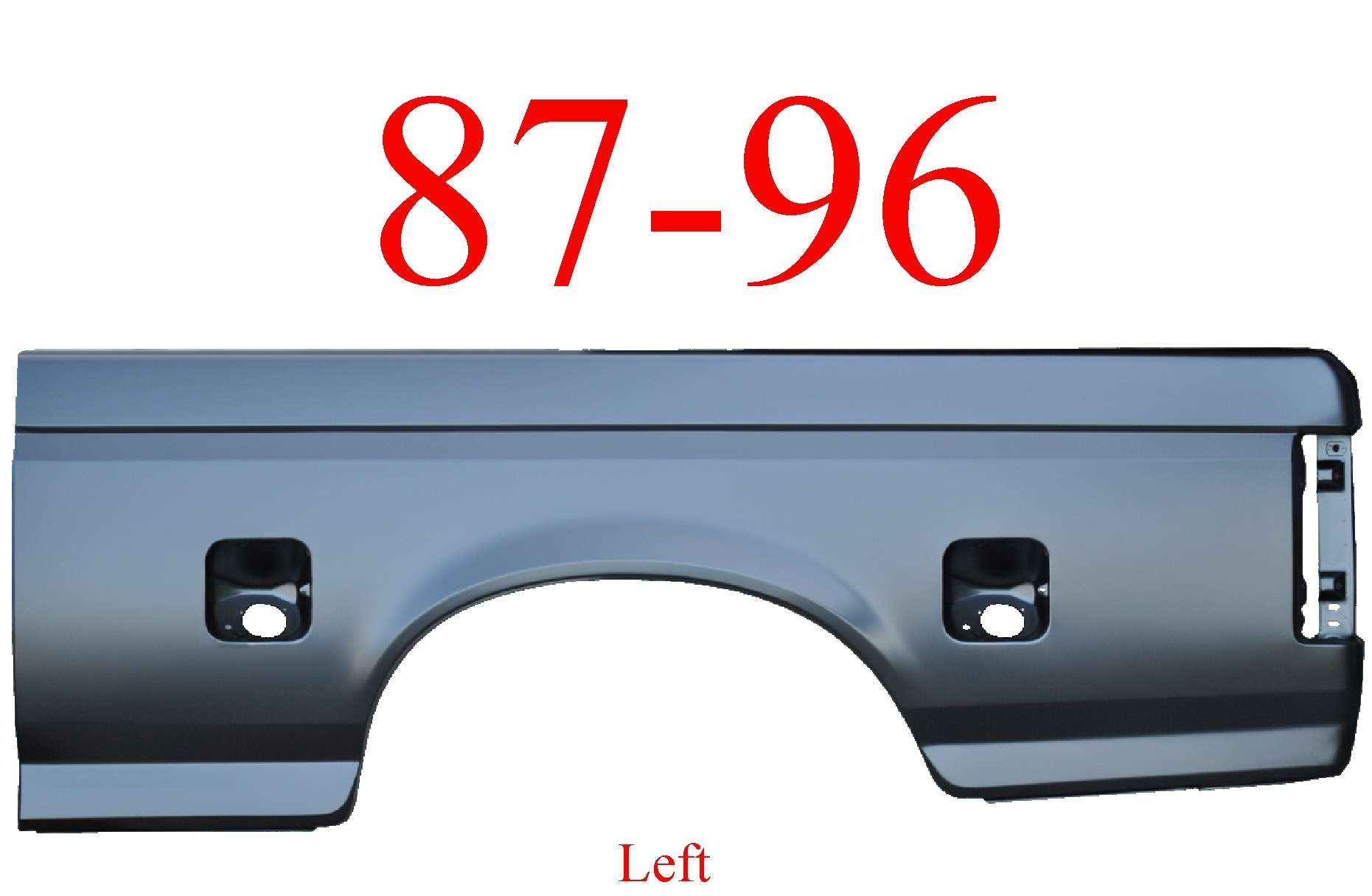 87-96 Ford Left 6.5' Bed Side Dual Fuel Holes