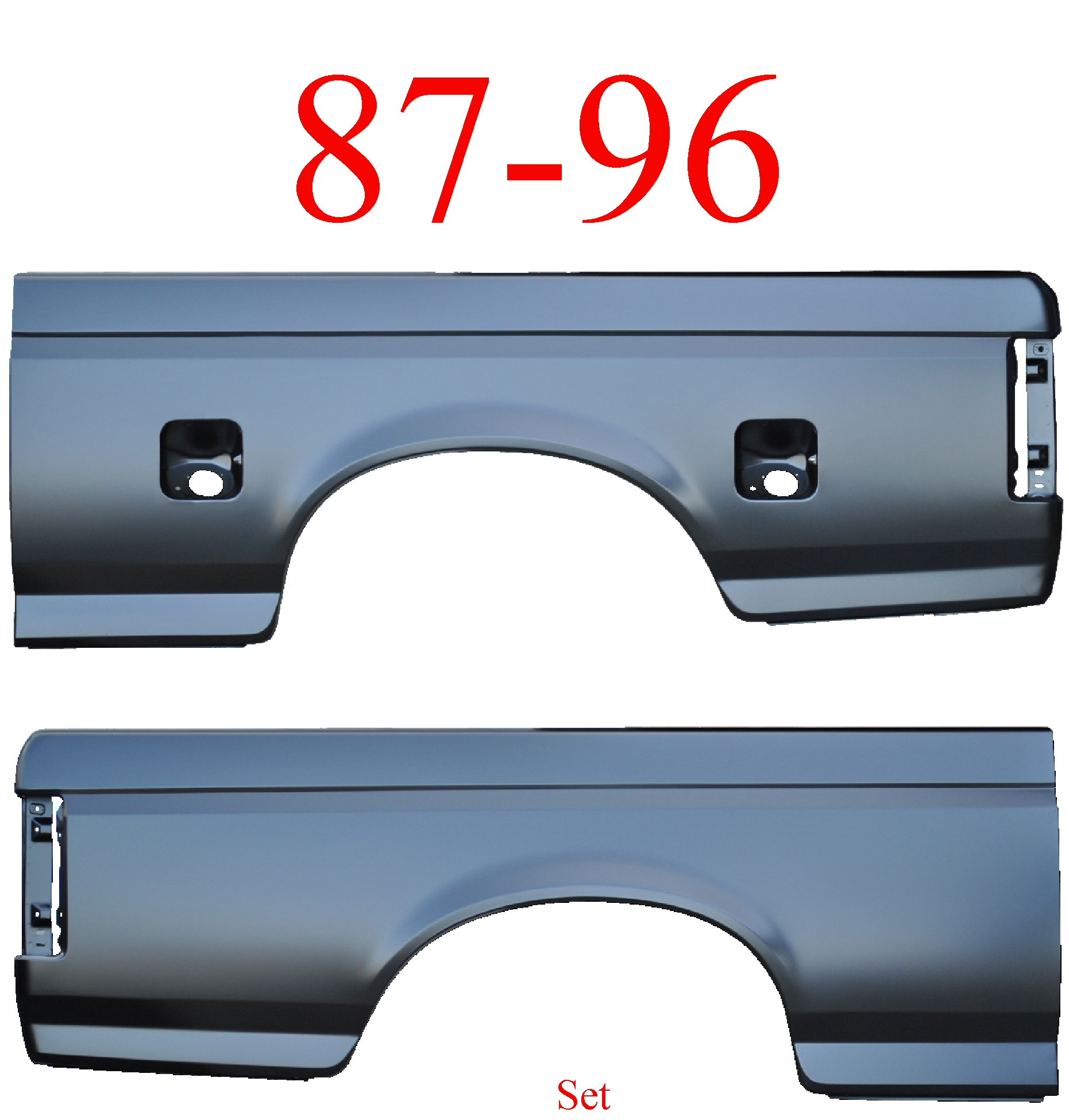 87 96 Ford 6.5' Bed Side Set Dual Fuel Hole