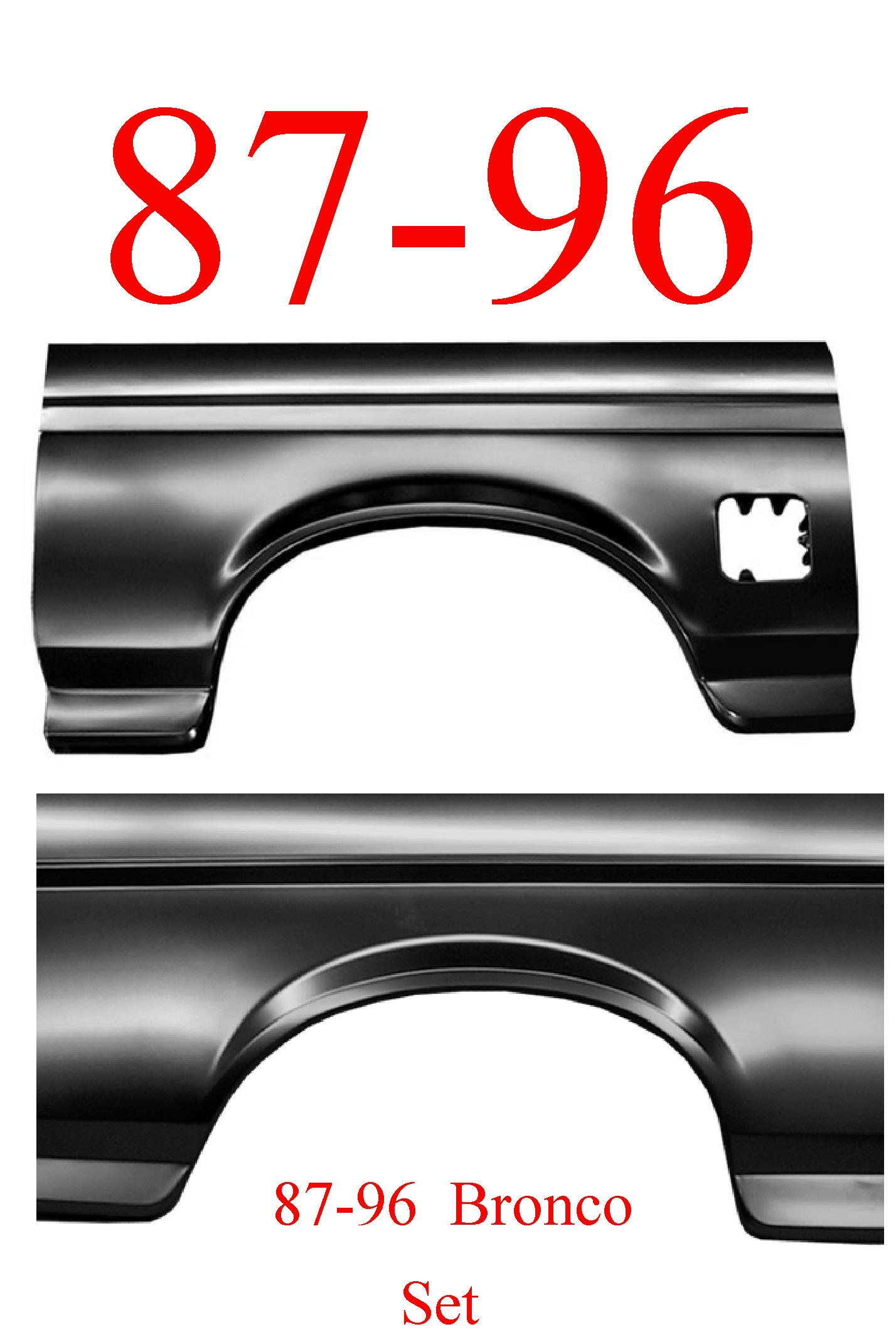 87-96 Bronco Full Rear Arch Panel Set