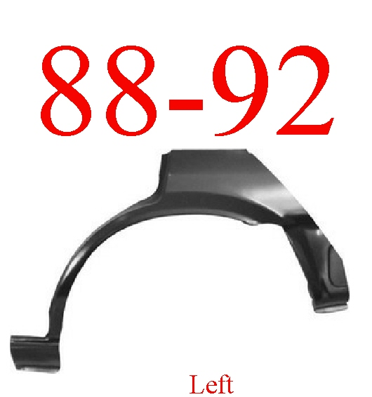 88-92 Toyota Corolla Hatchback Left Upper Wheel Arch