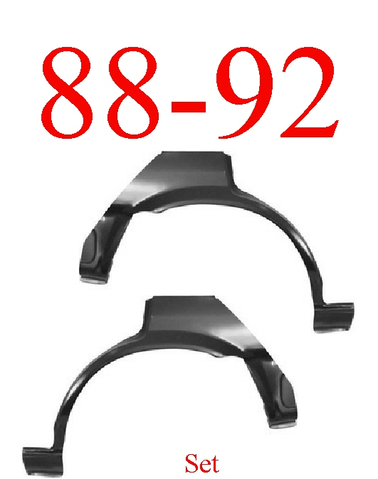 88-92 Toyota Corolla Hatchback Upper Wheel Arch Set