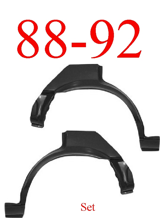 88-92 Toyota Corolla Sedan Rear Upper Wheel Arch Set