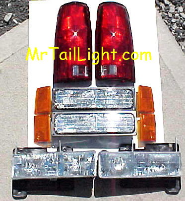 94-98 Chevy 10Pc Light Kit Front & Rear