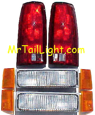 88-93 Chevy 8Pc Light Kit Front & Rear