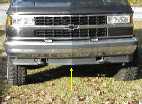 88-98 Chevy & GMC Lower Bumper Valance With Holes