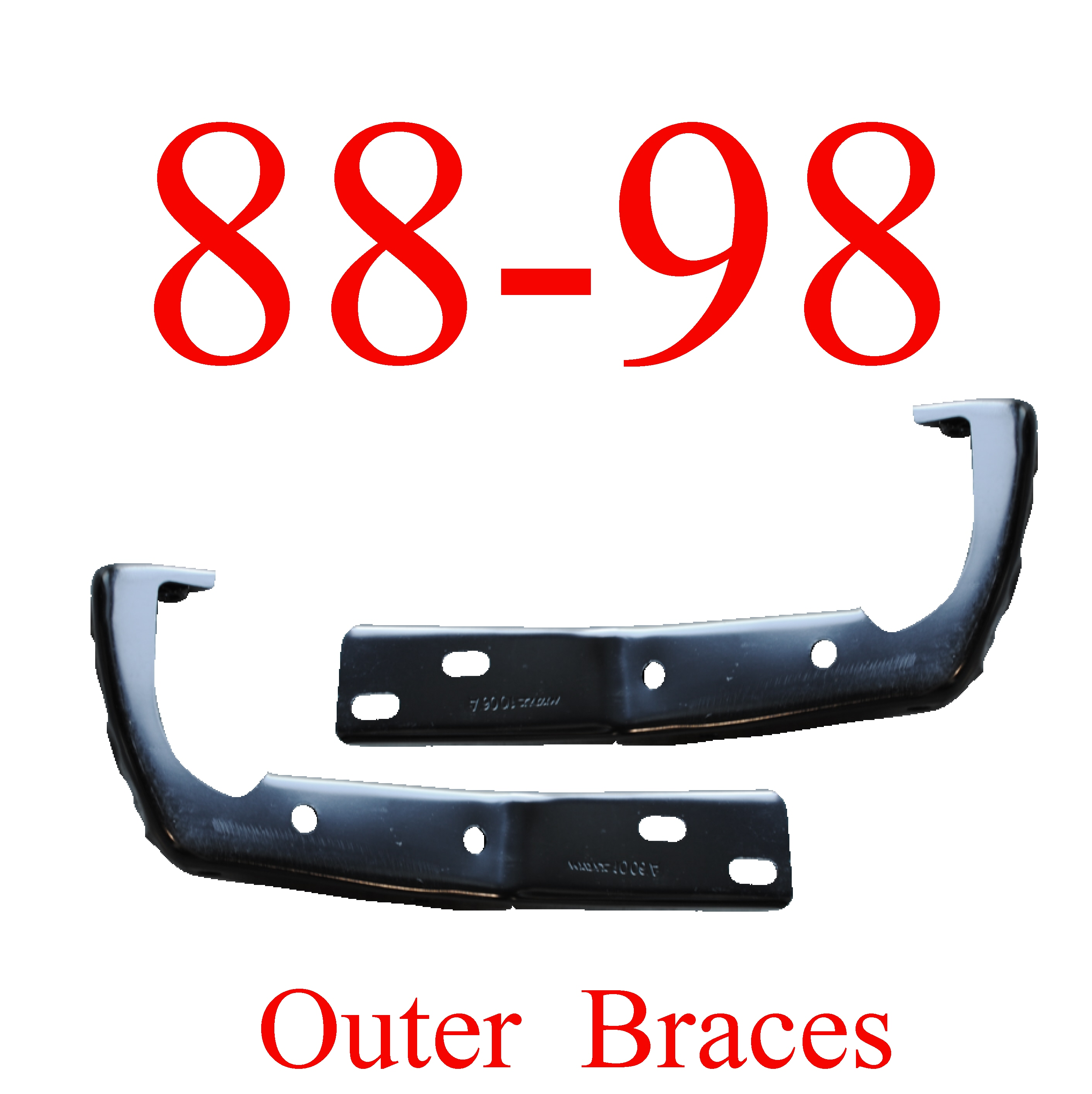 88-98 Chevy GMC 2Pc Outer Bumper Braces