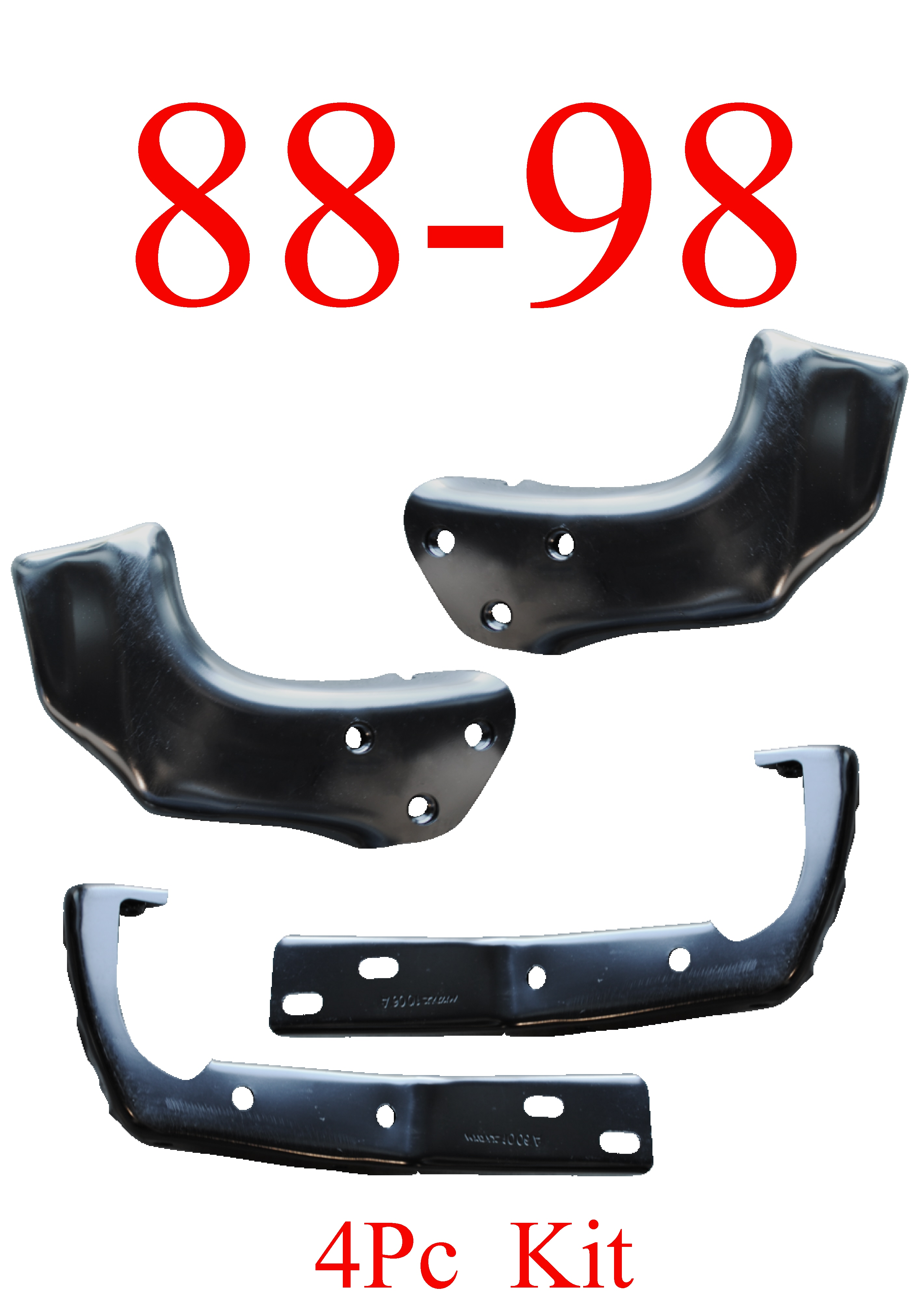 88-98 Chevy GMC 4Pc Bumper Brackets & Braces