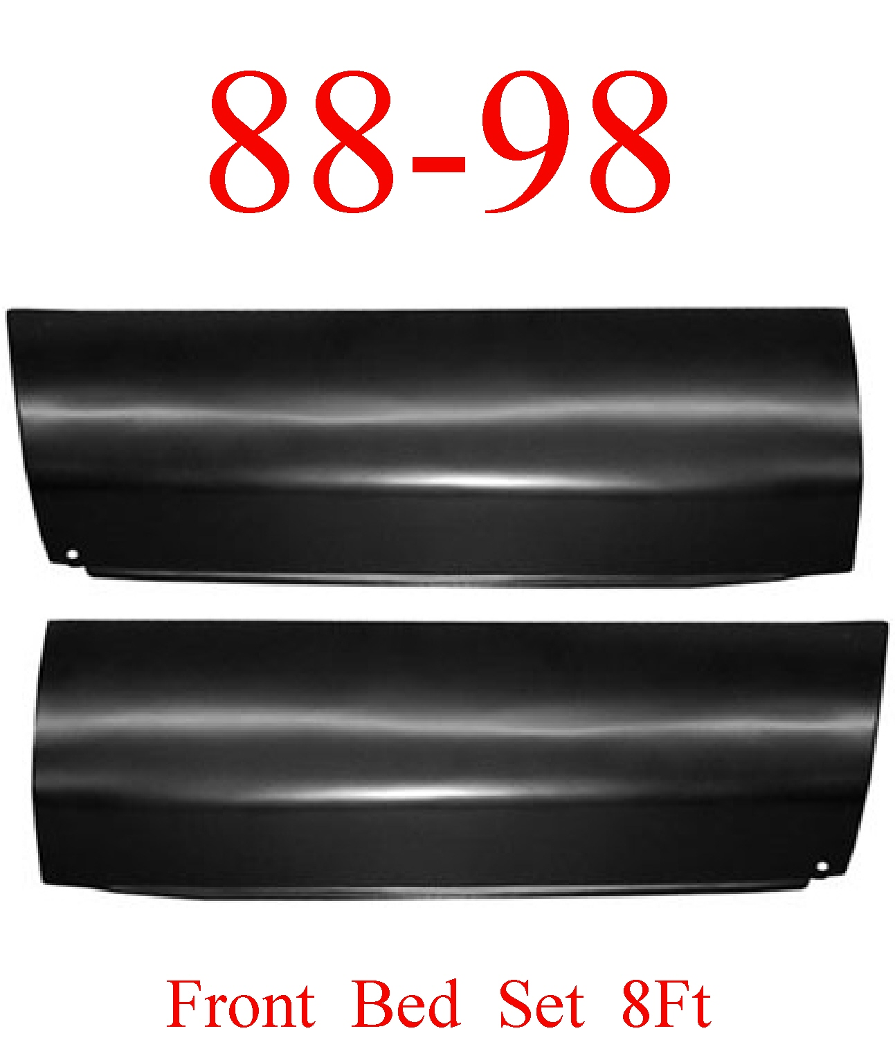 88-98 Chevy 8' Left Front Lower Bed Panel Set, GMC Truck
