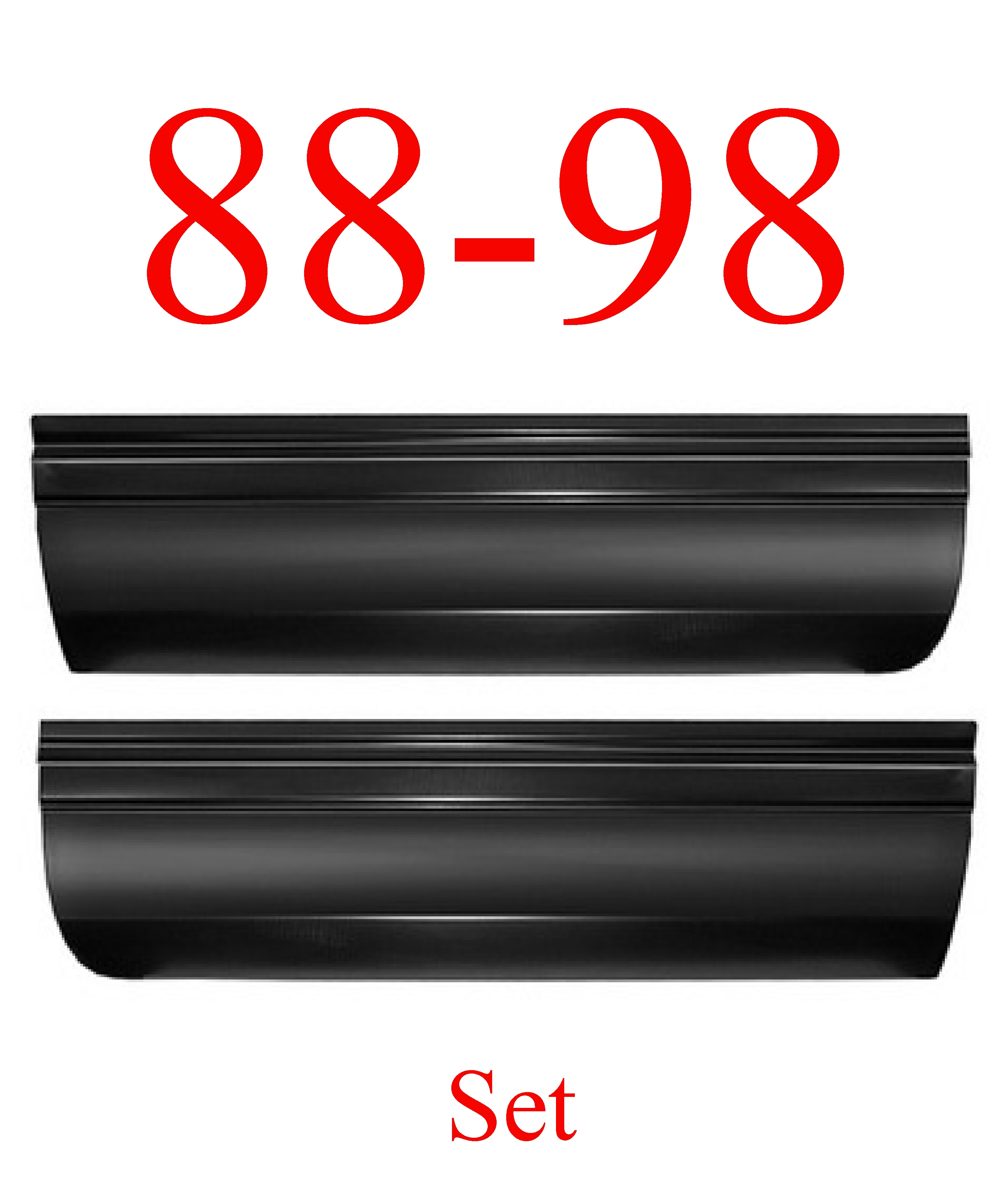 88-98 Front Lower Door Skin Panel SET