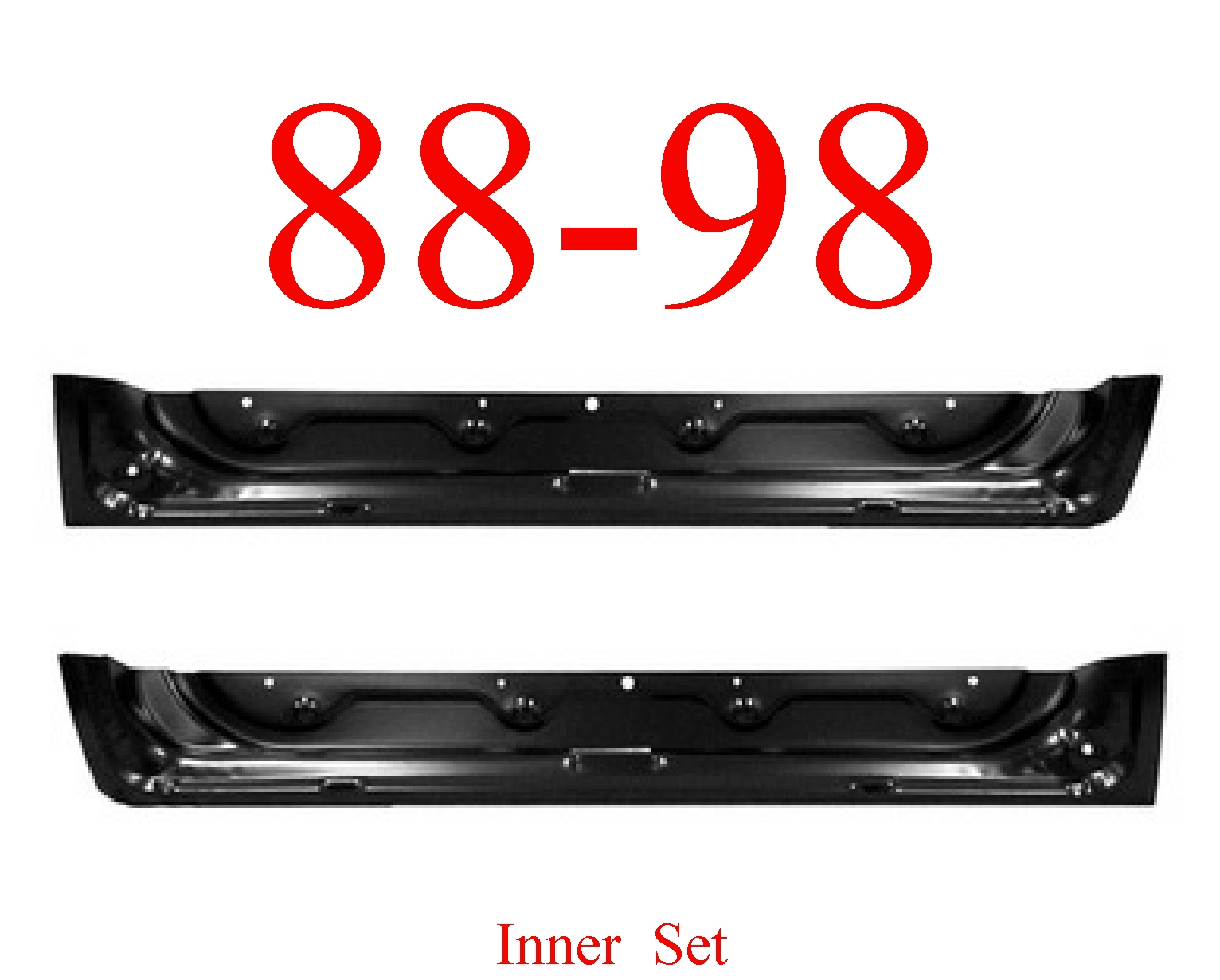88-98 Chevy Front Inner Door Bottom Set