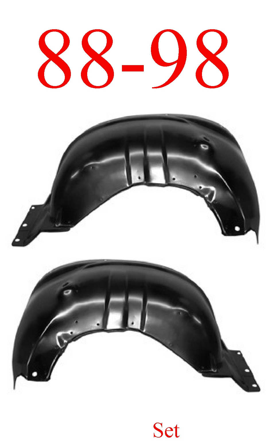 88-98 Chevy Inner Front Fender Set