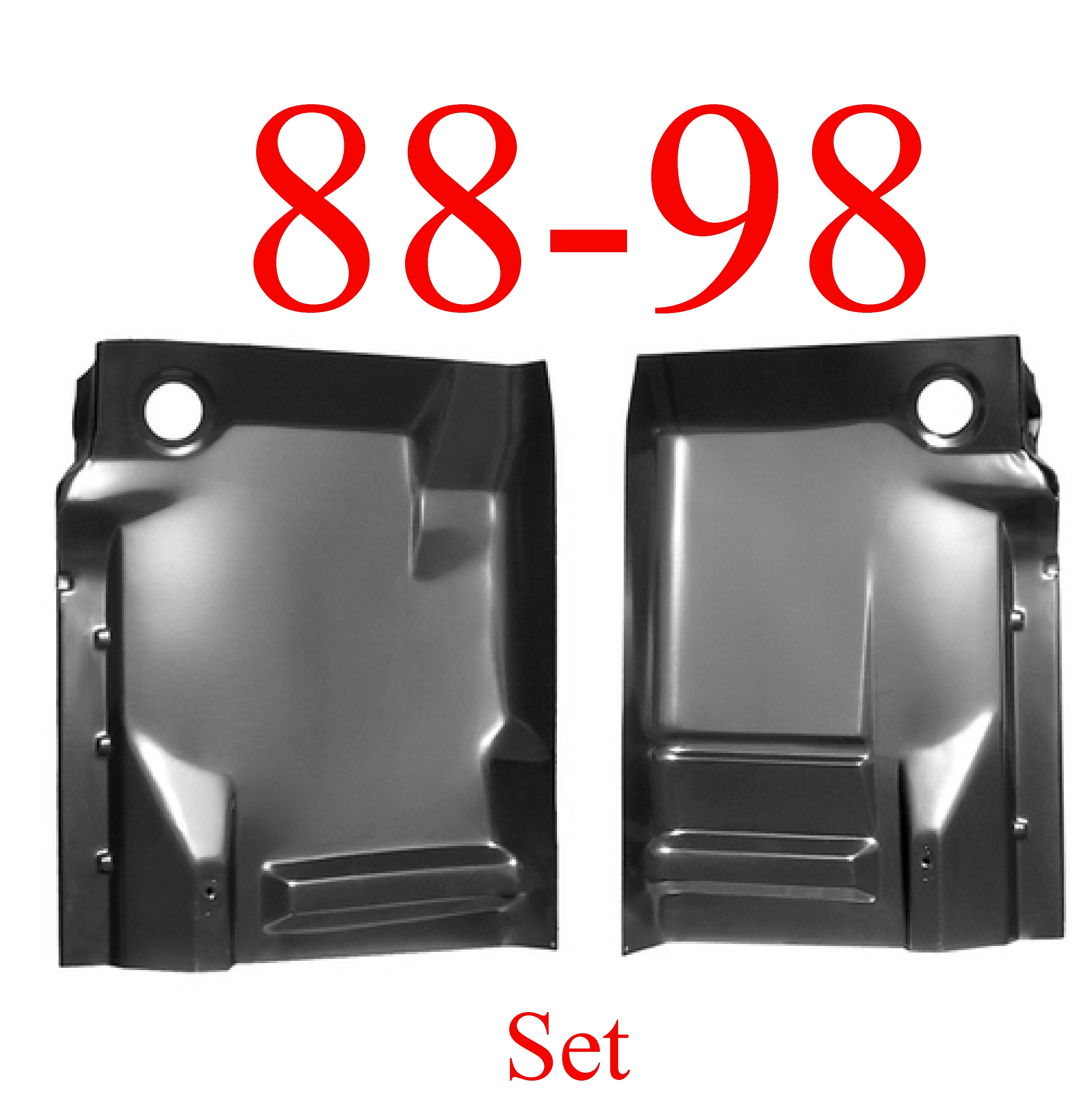 88-98 Chevy GMC Front Complete Extended Floor Panel Set