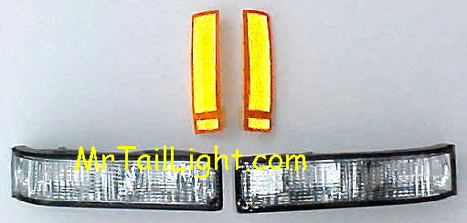 88-98 Chevy & GMC 4Pc Work Truck Front Light Kit